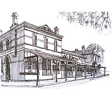Buninyong: former Whykes Butchers, John Adam's store, National Bank building. Photographic Print
