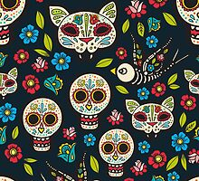 Day of the Dead, a traditional holiday in Mexico.  by Olga Matskevich