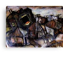 screaming building Canvas Print