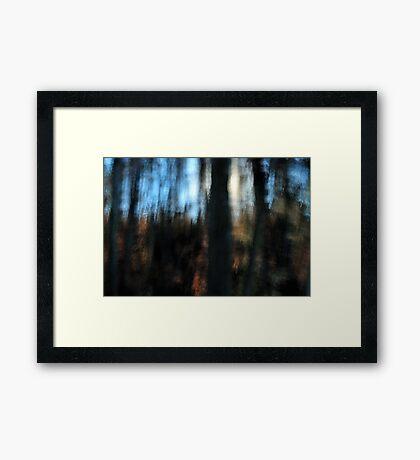 Blue Sky, Blocked Sun Framed Print