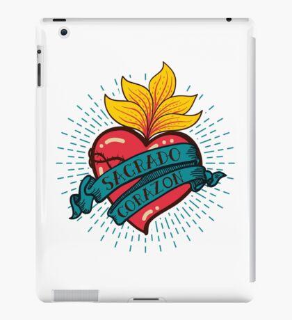 Sacred Heart print old schooll style iPad Case/Skin