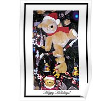 Teddy bears in Christmas Trees Poster