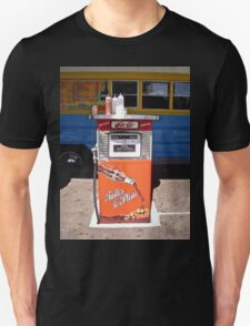 A unique way to recycle an old gas pump! Unisex T-Shirt