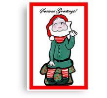 Happy Holiday Elf Canvas Print