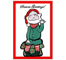 Happy Holiday Elf Photographic Print