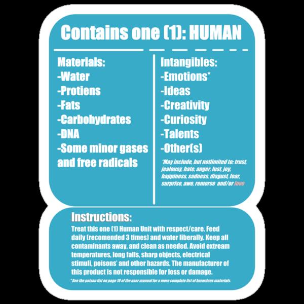 Human (blue) by Bluesly
