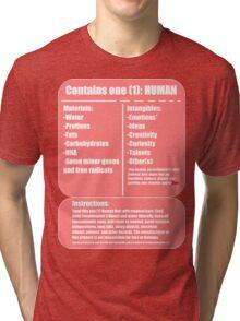Human (pink) Tri-blend T-Shirt