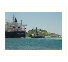 PACIFIC TRIANGLE CARGO SHIP - Newcastle NSW Australia Art Print