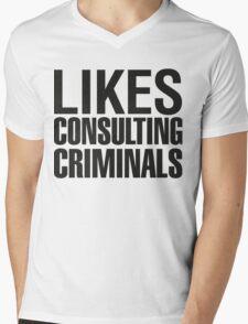 SHERLOCK - LIKES CONSULTING CRIMINALS Mens V-Neck T-Shirt
