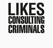 SHERLOCK - LIKES CONSULTING CRIMINALS Womens Fitted T-Shirt