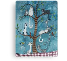 cat family tree Canvas Print