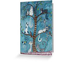 cat family tree Greeting Card