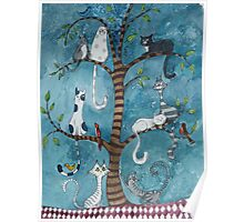 cat family tree Poster