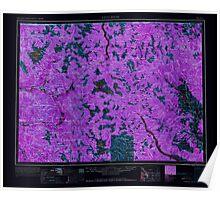 USGS Topo Map Washington State WA Concrete 240635 1962 250000 Inverted Poster