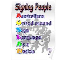 Signing People - AUSLAN Poster