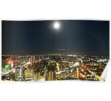 Sydney night skyline Poster