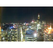 Sydney CBD at night Photographic Print