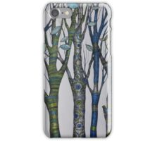 Psychedelic trees iPhone Case/Skin
