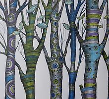 Psychedelic trees by Judit Matthews