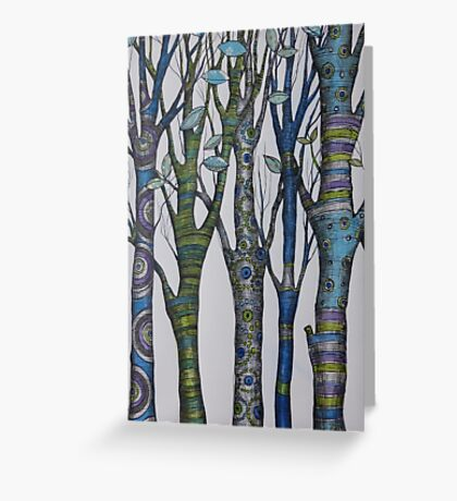 Psychedelic trees Greeting Card