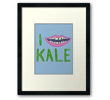 I Heart Kale Framed Print