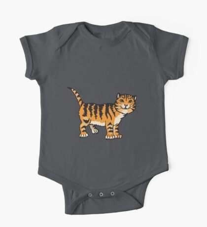 Goofy tiger with wagging tail One Piece - Short Sleeve