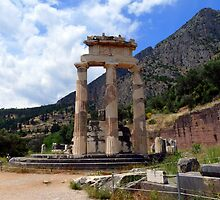The Temple of Athena Pronaia  by HELUA