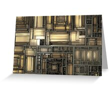 Mechanical Fractal Greeting Card