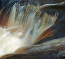 Water Power: Autumn on the River Calder  by Keith Gooderham