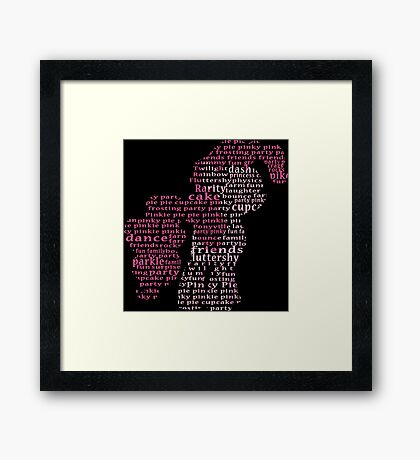 My Little Pony - Pinkie Pie Typography Framed Print