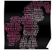 My Little Pony - Pinkie Pie Typography Poster