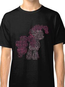 My Little Pony - Pinkie Pie Typography Classic T-Shirt