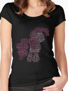 My Little Pony - Pinkie Pie Typography Women's Fitted Scoop T-Shirt
