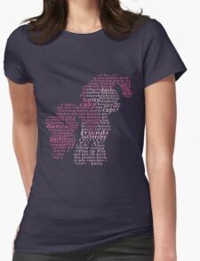 My Little Pony - Pinkie Pie Typography Womens Fitted T-Shirt