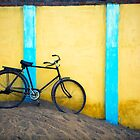 Bicycle against wall by Mark Smart