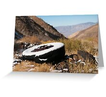 First snow- Death Valley Greeting Card