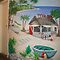 Mural of Beachside &quot;Dive Bar&quot; by nancy salamouny
