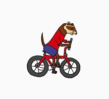 Funny Ferret Riding Bicycle Art Unisex T-Shirt