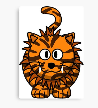 Goofy tiger Canvas Print
