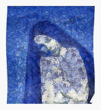 Blue Nun Poster