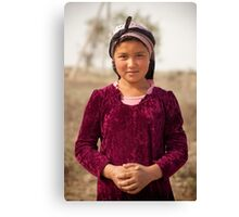 The desert girl Canvas Print