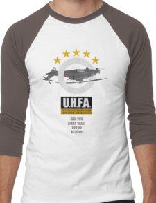 Upside-down Helicopter Flying Association Men's Baseball ¾ T-Shirt