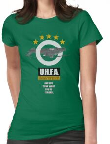 Upside-down Helicopter Flying Association Womens Fitted T-Shirt