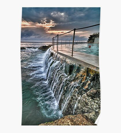 Dawn dip at Bronte Ocean Baths Poster