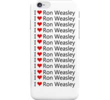 I Love Ron Weasley iPhone Case/Skin