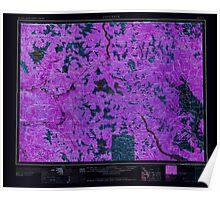 USGS Topo Map Washington State WA Concrete 240634 1958 250000 Inverted Poster