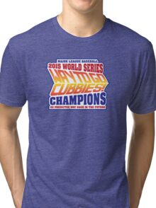 Chicago Cubs World Series Champions - Back to the Future  Tri-blend T-Shirt