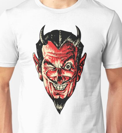 Vintage Halloween Red Devil Head Unisex T-Shirt