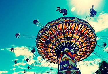 'Swinger' ride - Kalgoorlie Boulder Community Fair by Melissa Drummond
