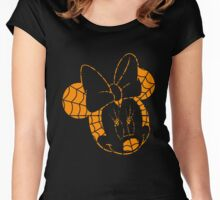 A Haunted Mouse: Minnie Mouse  Women's Fitted Scoop T-Shirt